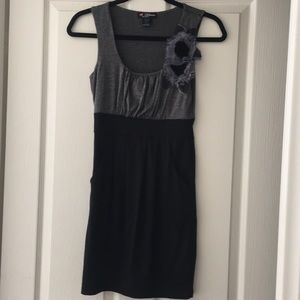 Delirious Grey and Black Dress